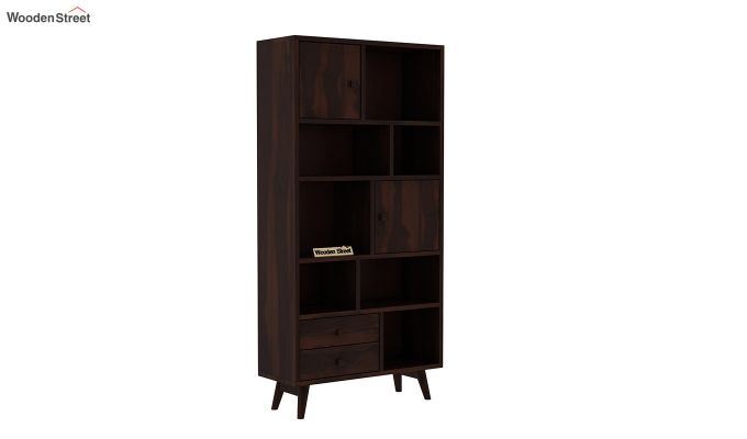 Javier Book Shelves (Walnut Finish)-2