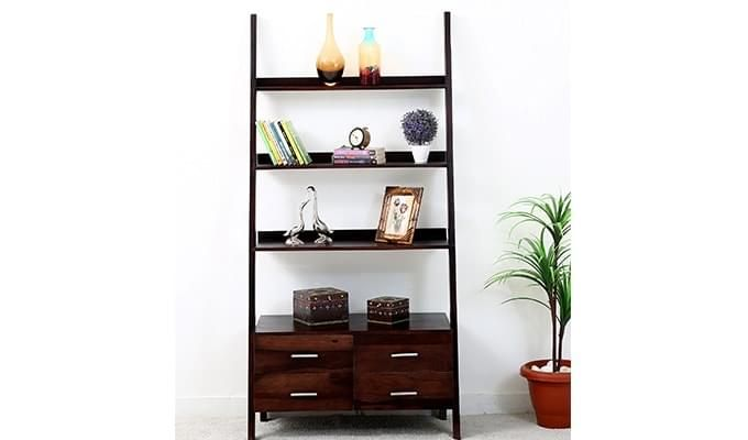 Jeffery Store Bookshelf (Mahogany Finish)-1