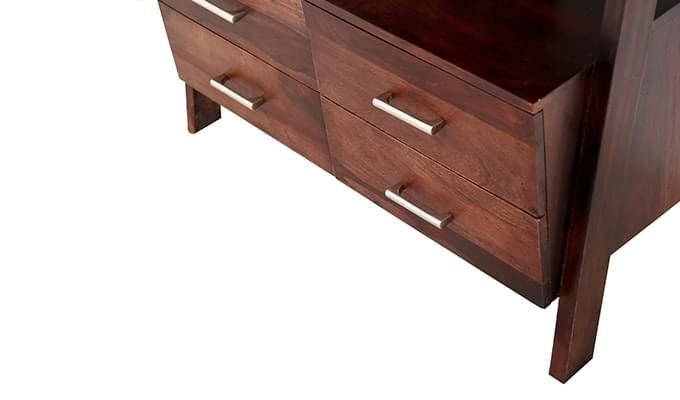 Jeffery Store Bookshelf (Mahogany Finish)-8