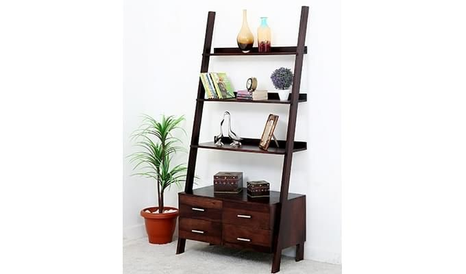 Jeffery Store Bookshelf (Mahogany Finish)-2