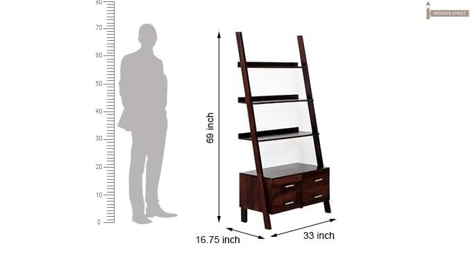 Jeffery Store Bookshelf (Mahogany Finish)-9
