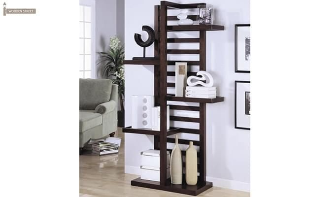 Jerie Book Shelves (Mahogany Finish)-1