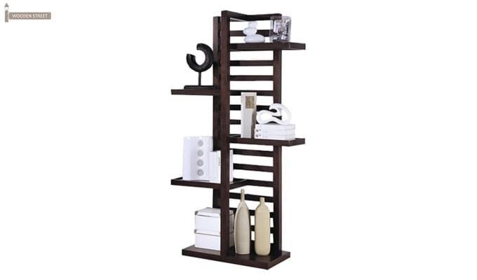 Jerie Book Shelves (Mahogany Finish)-2