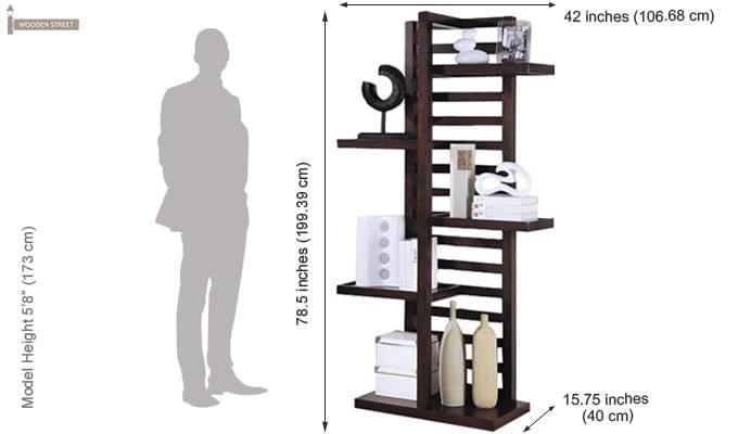 Jerie Book Shelves (Mahogany Finish)-3