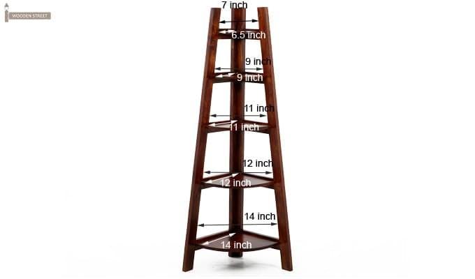 Juniper Store Book Shelf (Teak Finish)-11