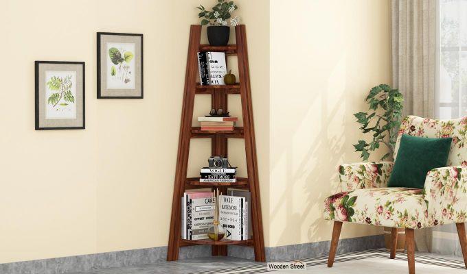 Juniper Book Shelf (Teak Finish)-1