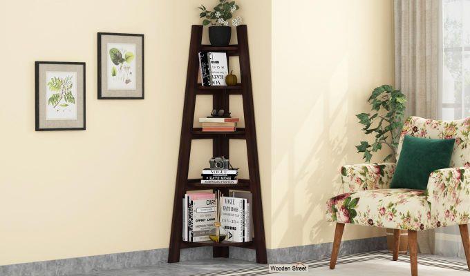 Juniper Book Shelf (Walnut Finish)-1