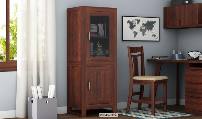 Lacey Bookshelves (Walnut Finish)-1