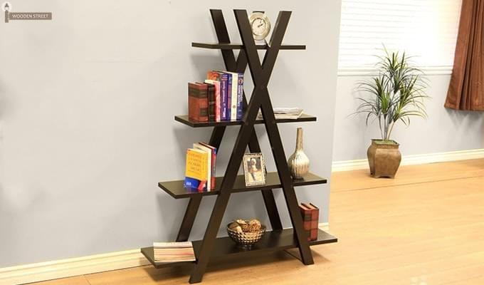 Lexia Bookshelf (Mahogany Finish)-1