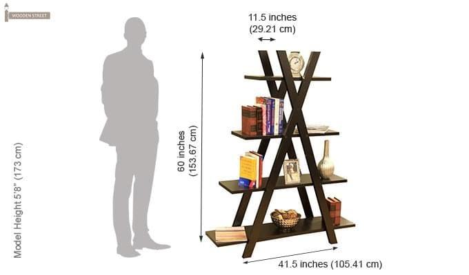 Lexia Bookshelf (Mahogany Finish)-3