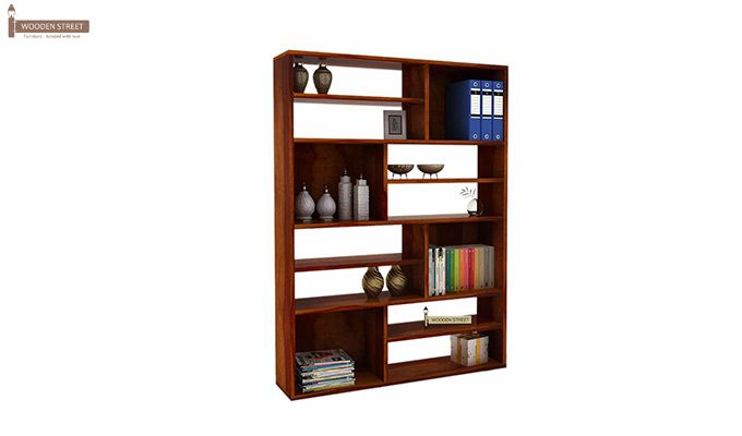 Libra Book Shelf (Honey Finish)-3