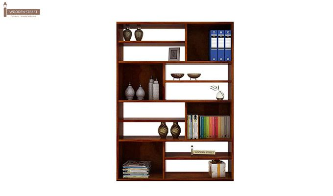 Libra Book Shelf (Honey Finish)-2