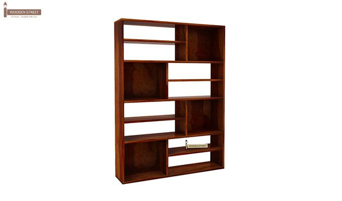 Libra Book Shelf (Honey Finish)-4
