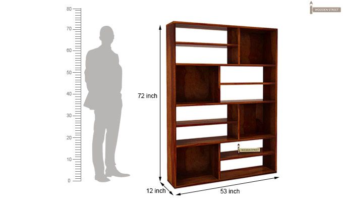 Libra Book Shelf (Honey Finish)-6