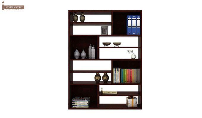 Libra Book Shelf (Mahogany Finish)-2
