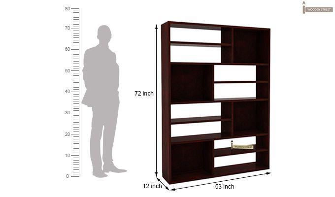 Libra Book Shelf (Mahogany Finish)-5