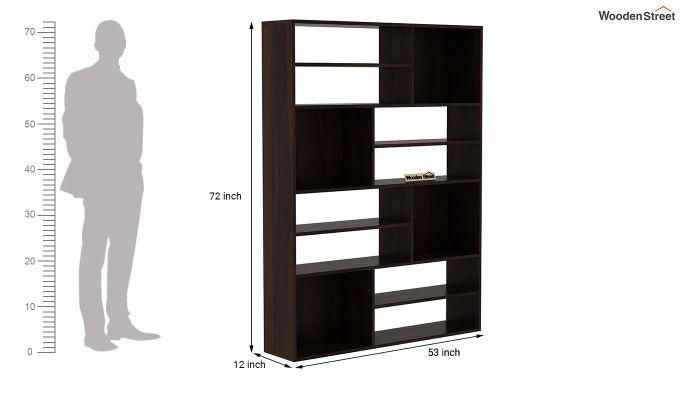Libra Book Shelf (Walnut Finish)-4