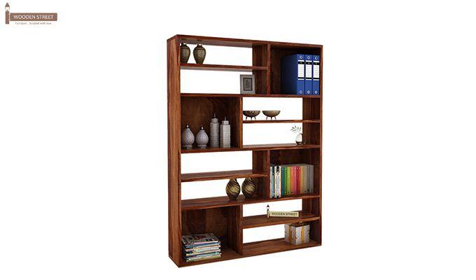 Libra Book Shelf (Teak Finish)-1