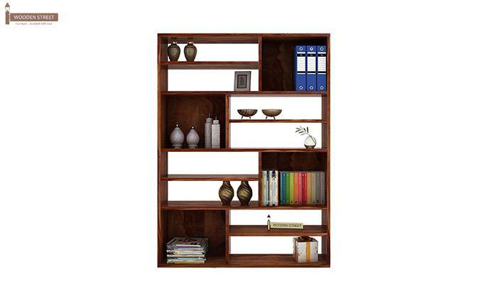Libra Book Shelf (Teak Finish)-2