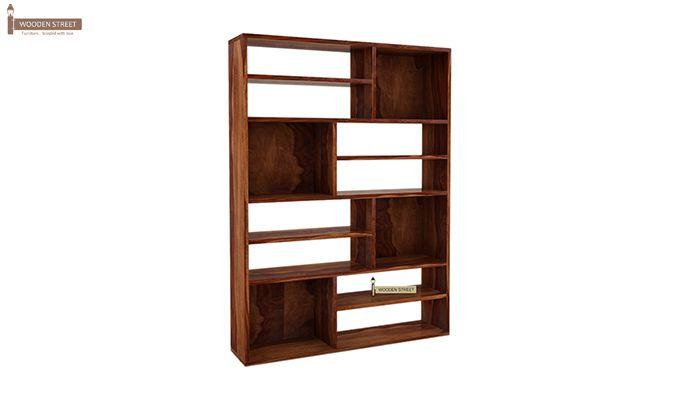 Libra Book Shelf (Teak Finish)-3