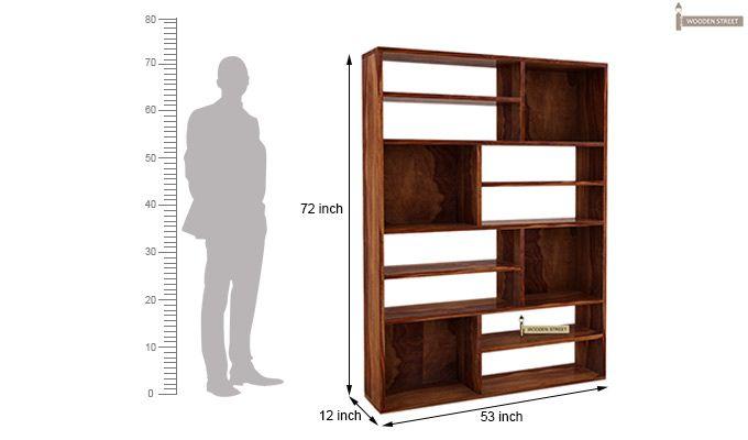 Libra Book Shelf (Teak Finish)-5