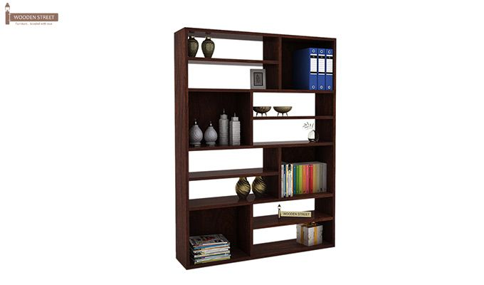 Libra Book Shelf (Walnut Finish)-1