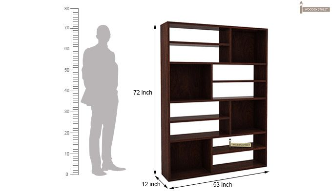 Libra Book Shelf (Walnut Finish)-5