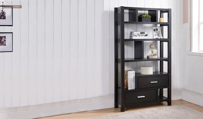 Lilian Bookshelves (Black Finish)-1