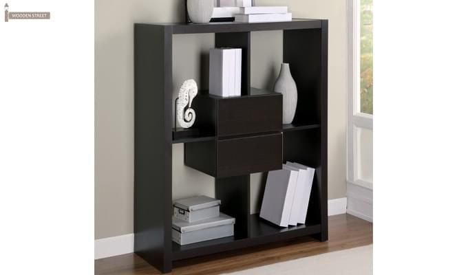 Lorain Book Rack (Black Finish)-2