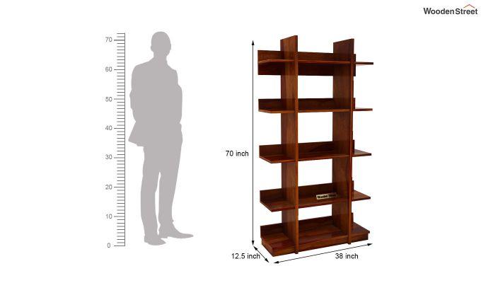 Miranda Bookshelf (Honey Finish)-6