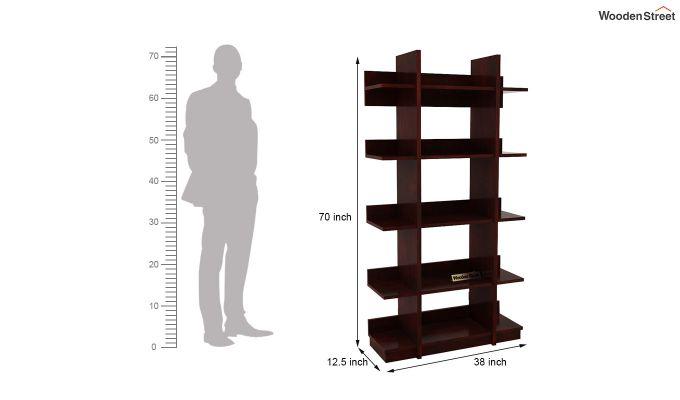 Miranda Bookshelf (Mahogany Finish)-5