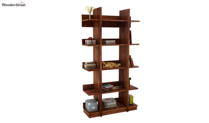 Miranda Bookshelf (Teak Finish)-1