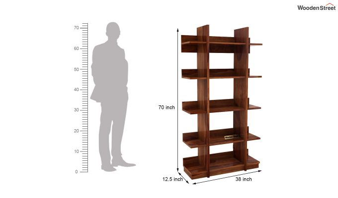 Miranda Bookshelf (Teak Finish)-5