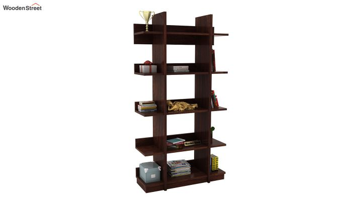 Miranda Bookshelf (Walnut Finish)-1