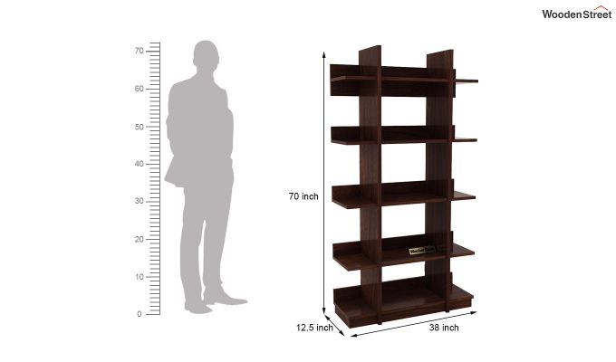 Miranda Bookshelf (Walnut Finish)-5
