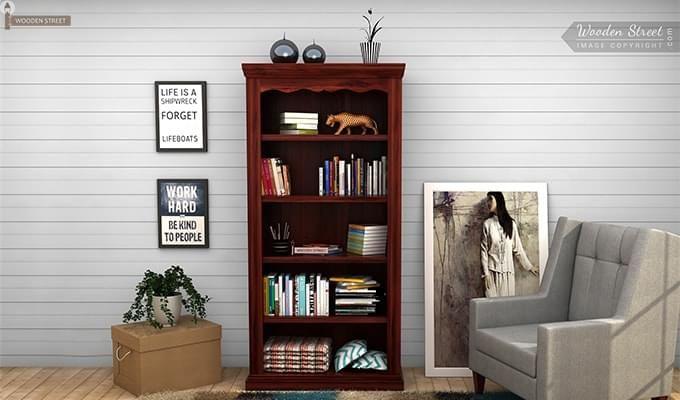 Nelson Bookshelf (Mahogany Finish)-1