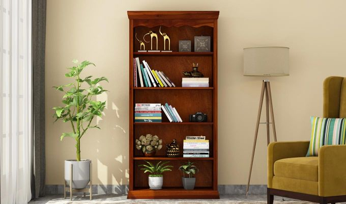 Nelson Bookshelf (Honey Finish)-2