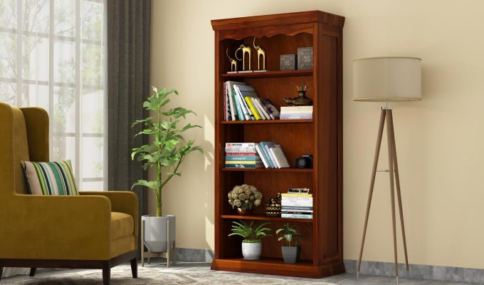 Nelson Bookshelf (Honey Finish)-1