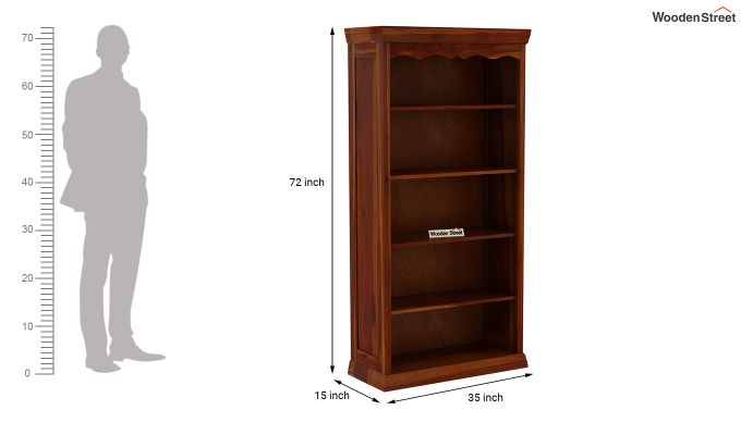 Nelson Bookshelf (Honey Finish)-5