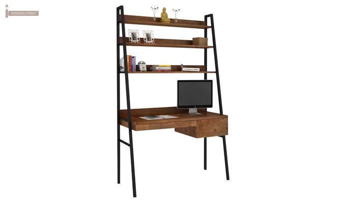 Olay Loft Study Table With BookShelf (Teak Finish)-2