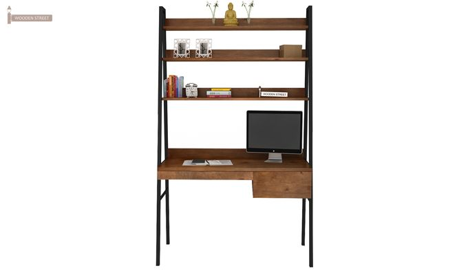 Olay Loft Study Table With BookShelf (Teak Finish)-3