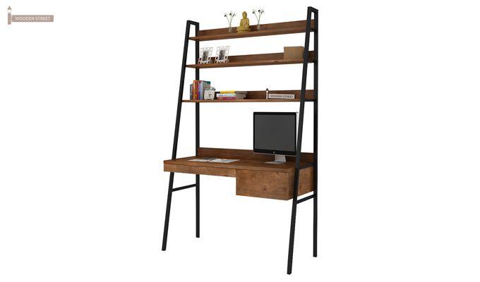 Olay Loft Study Table With BookShelf (Teak Finish)-4