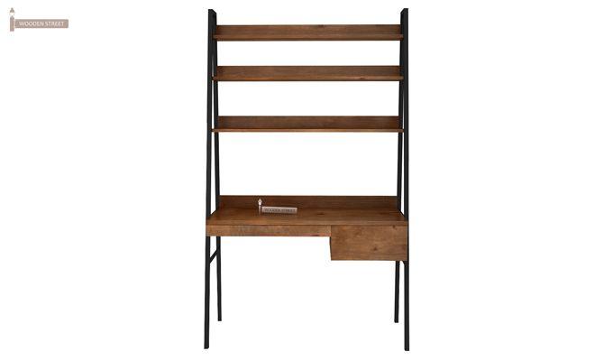 Olay Loft Study Table With BookShelf (Teak Finish)-6