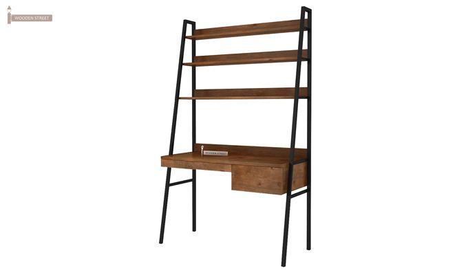 Olay Loft Study Table With BookShelf (Teak Finish)-7