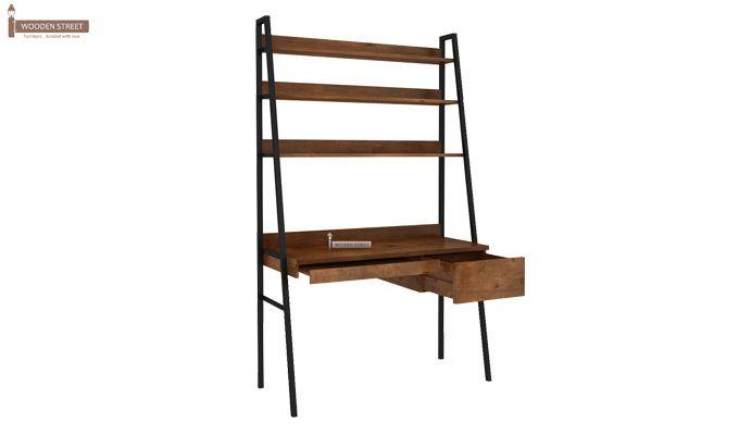 Olay Loft Study Table With BookShelf (Teak Finish)-8
