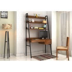 Olay Loft Study Table With BookShelf (Teak Finish)
