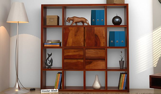 Orsini Bookshelf (Honey Finish)-1