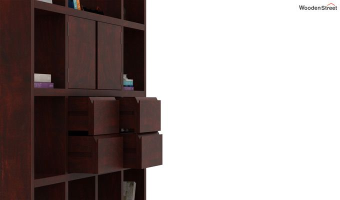 Orsini Bookshelf (Mahogany Finish)-4