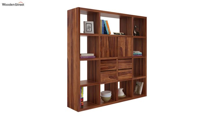 Orsini Bookshelf (Teak Finish)-1