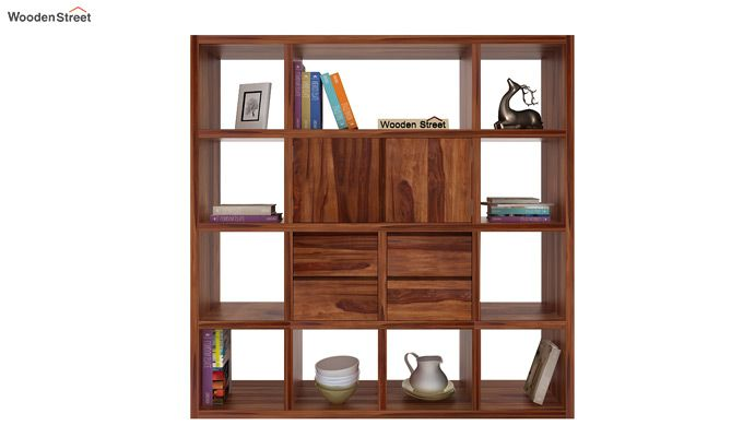 Orsini Bookshelf (Teak Finish)-2